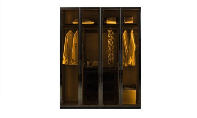 Puzzle 4 kapaklı siyah giysi dolabı hemen keşfet
