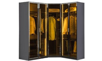 Puzzle siyah 5 kapaklı giysi dolabı modelimizi hemen keşfet